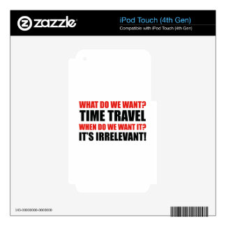 Time Travel iPod Touch 4G Skin