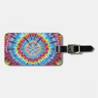 Time Travel Tunnel Tie Dye Bag Tag