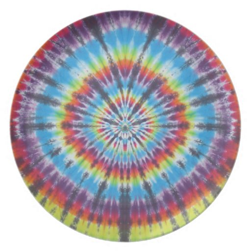 Time Travel Tunnel Tie Dye Dinner Plate