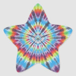 Time Travel Tunnel Tie Dye Star Stickers