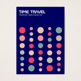 Time Travel v1.2 - Colors 01 - Dark Blue 000066 Business Card