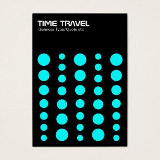 Time Travel v1.2 - Cyan on Black Business Card