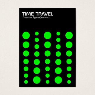 Time Travel v1.2 - Green on Black Business Card