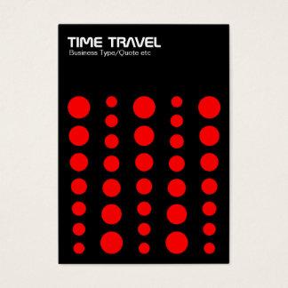 Time Travel v1.2 - Red on Black Business Card