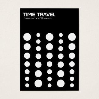 Time Travel v1.2 - White on Black Business Card
