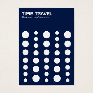 Time Travel v1.2 - White on Dark Blue 001744 Business Card