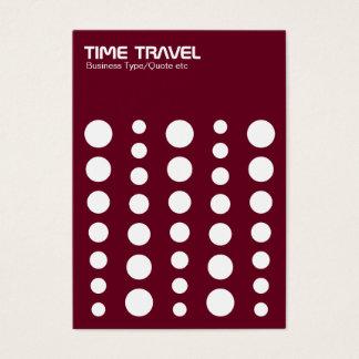 Time Travel v1.2 - White on Dark Red 65001d Business Card