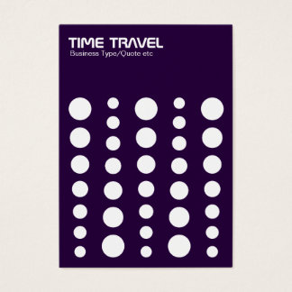 Time Travel v1.2 - White on Deep Purple Business Card