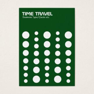 Time Travel v1.2 - White on Green 0a4e19 Business Card