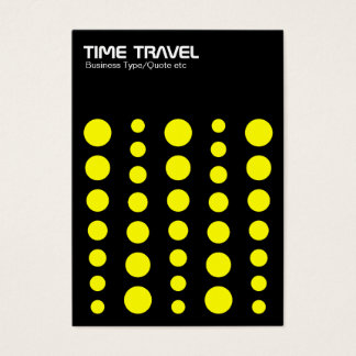 Time Travel v1.2 - Yellow on Black Business Card