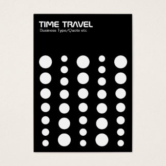 Time Travel - White on Black Business Card