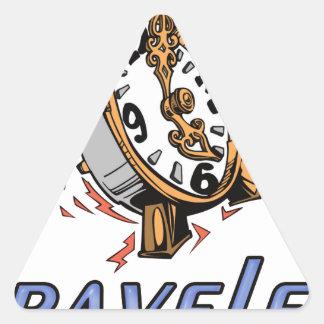 Time Traveler Triangle Sticker