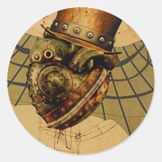Time Traveler's Heart Classic Round Sticker