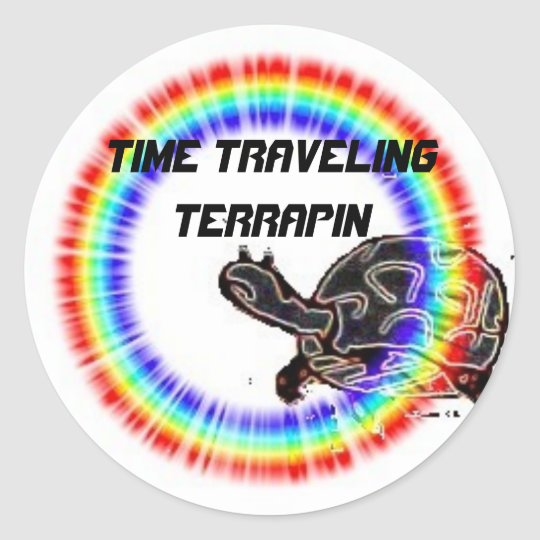 Time Traveling Terrapin Classic Round Sticker