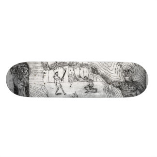 Time traveling zombies custom skateboard