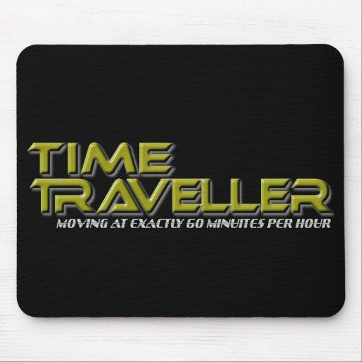 Time Traveller Black Mousepad