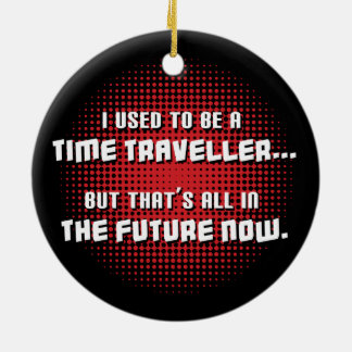 Time Traveller Double-Sided Ceramic Round Christmas Ornament