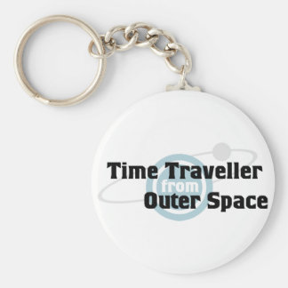 Time Traveller From Outer Space Keychain
