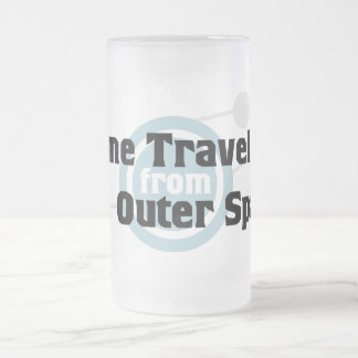 Time Traveller From Outer Space 16 Oz Frosted Glass Beer Mug