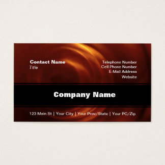 Time Traveller's Orange Vortex Business Card