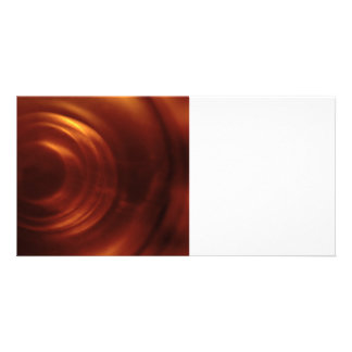 Time Traveller's Orange Vortex Photo Greeting Card