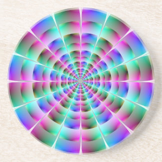 Time Tunnel in Blue and Pink Coaster