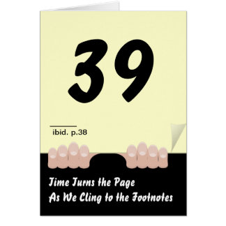 Time Turns the Page Birthday Card