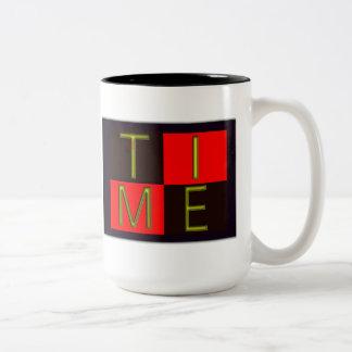 Time Two-Tone Coffee Mug