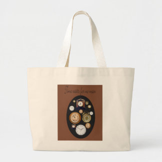 time waits for no man canvas bag