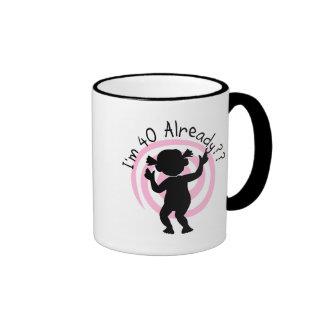 Time Warp 40 Already Tshirts and gifts Ringer Coffee Mug