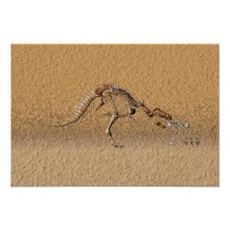 Time-warp fossil photo print