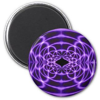 Time Warp Purple 2 Inch Round Magnet