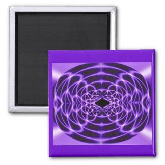 Time Warp Purple 2 Inch Square Magnet