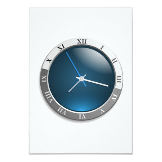 Time Watch Face 3.5x5 Paper Invitation Card