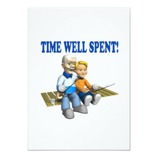 Time Well Spent 5x7 Paper Invitation Card