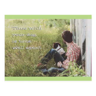 Time Well Spent Dog Postcard