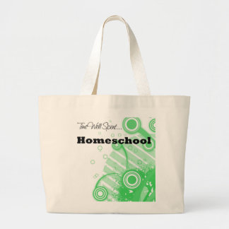 """""""Time Well Spent...Homeschool"""" Tote Canvas Bags"""