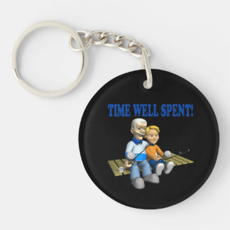 Time Well Spent Keychain