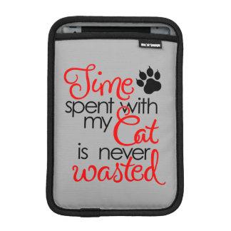 TIme With Cat iPad Mini Sleeve