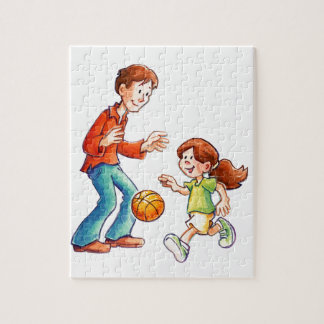 Time With Dad Jigsaw Puzzle