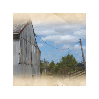 Time Worn Farm Barn Canvas Print