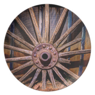 Time Worn Wheel Party Plates