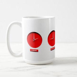 Time zone clocks mug