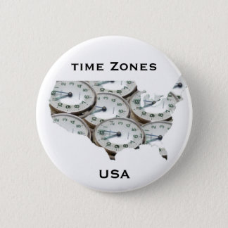 Time Zone Pocket Watch Pinback Button