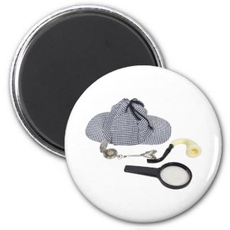 TimeForDetective050110 2 Inch Round Magnet