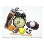TimeForSports062509 4.25x5.5 Paper Invitation Card