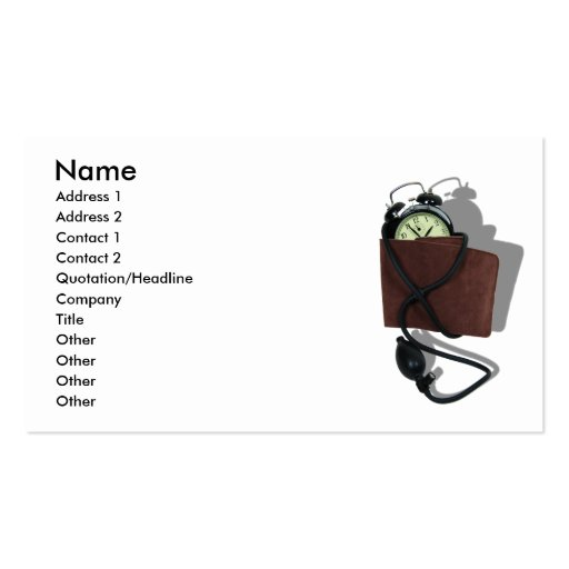 TimeIsStress041109shadows, Name, Address 1, Add... Business Card Templates