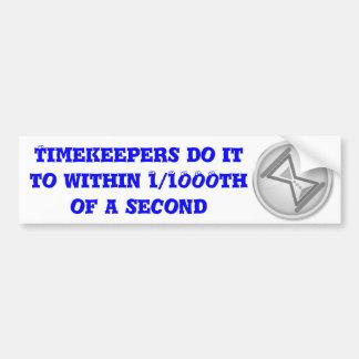 """""""Timekeepers do it"""" by Flagman Bumper Sticker"""