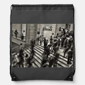 Timelapse Themed,  Time Lapse In Louvre Museum Sho Cinch Bag