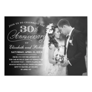 Timeless 30th Anniversary Party Photo Invitation